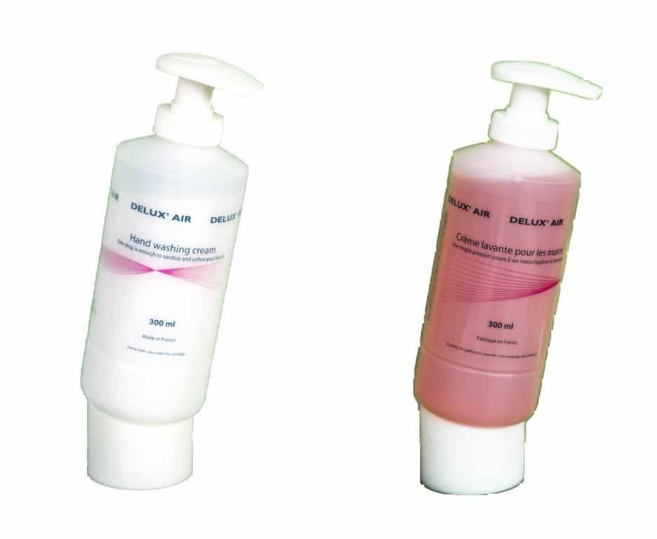 Delux'air soapest un produit inflight désinfectant nettoyant est un savon de lavage pour les mains