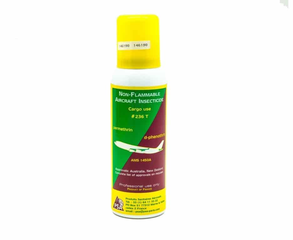 Aérosol D-Phenothrin et Permethrin est un insecticide ininflammable pour toutes soutes d'avions cargos, il élimine les insectes à corps mou